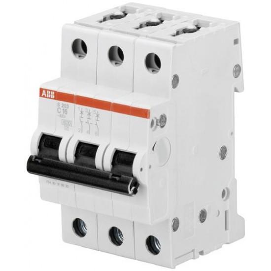 Intrerupator automat 3P 63A 6kA 12/125/440V- ABB SH203-C63