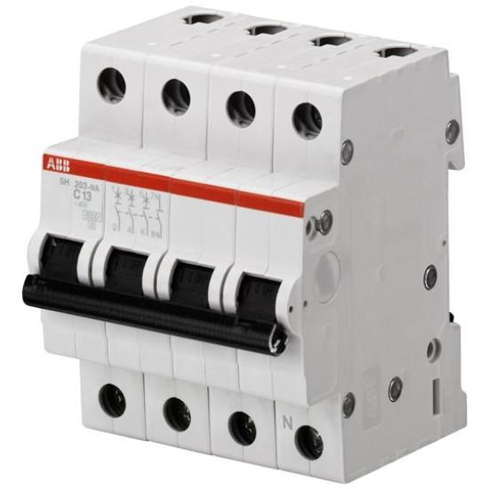 Intrerupator automat 4P 63A 6kA 12/125/440V- ABB SH203-C63NA