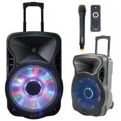 "BOXA PORTABILA ILUMINATA LED 12""/30CM 300W RMS CU USB/SD/BT/FM"