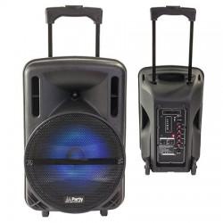 "BOXA PORTABILA ILUMINATA LED 10""/25CM 200W RMS CU USB/SD/BT/FM"