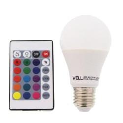 BEC LED E27 4W RGB CU TELECOMANDA WELL
