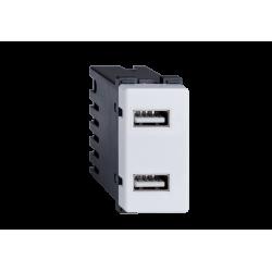 PRIZA DUBLA USB LECCE ALBA 26014 ELMARK